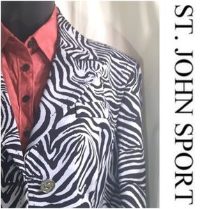 St John Sport tailored animal print jacket